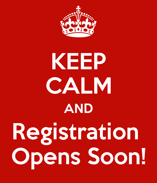 Keep Calm Registration Oopens Soon